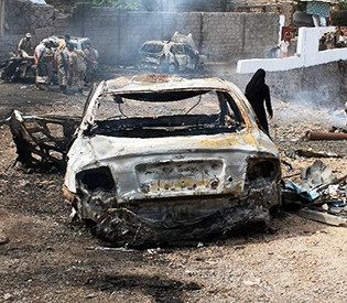 Bombs kill 37 Yemen police in former Qaeda bastion