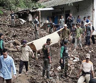 Landslides, floods kill