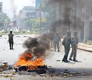 Two shot dead as Kenyan protests turn violent