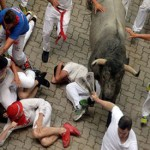 Bullfighter and runner die, two others gored in Spanish bull festivals