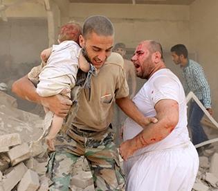 Barrel bomb attack kills 11 children in Syria