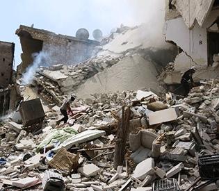Barrel bombs kill at least 15 civilians in Syria's Aleppo
