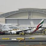 Emirates passenger jet catches fire in Dubai, Firefighter killed