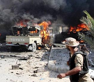 suicide attacks on Libya
