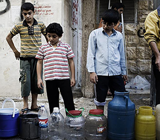 without running water in syria