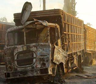Assad troops destroy Red Cross aid convoys in Aleppo