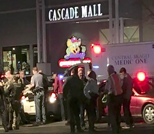 Four dead in Washington state mall, gunman on the run