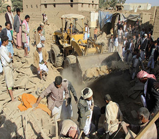 Saudi-led coalition air strike kills at least 19 in Yemen