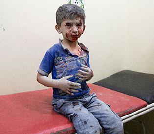 Syria's Aleppo reels from air strikes