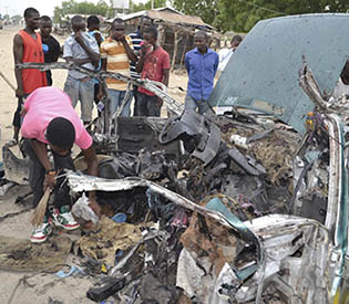 8 killed as bombing targets taxi in northeastern Nigeria