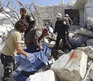 Syria airstrikes kill 22, mostly children, outside school