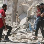 Syrian government forces press attack on Aleppo