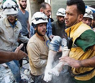 Syria's White Helmets- 'heroes' who run towards bombs