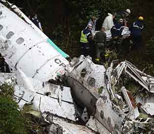 Brazilian soccer team plane crash