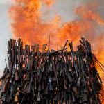 Kenya sets fire to 5,000 illegal weapons in crime fight