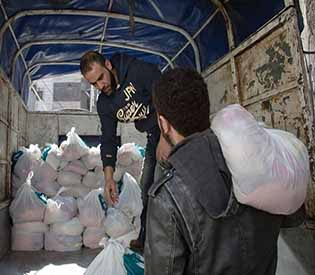food aid runs out in Syria