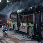Aleppo evacuations again suspended after deadly attack on buses