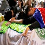 Emotional funeral for Brazil football Team Members killed in Plane Crash