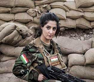female kurdish fighter