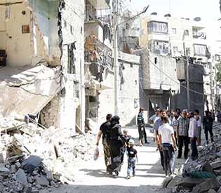 Syrians return to Aleppo
