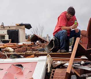 tornado rips