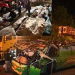 Horrific Taiwan bus crash leaves 32 dead and 13 seriously injured