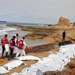 74 dead migrants wash ashore on Libyan beach from boat with no engine