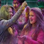 Incredible Holi festival of colours marked with Google's page splattered paint