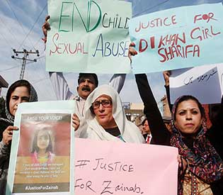 Protests held across Pakistan after 7-year-old girl's rape and murderjpg