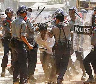 rakhine killed as Myanmar police fire on riot