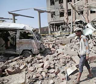 yemen rebels say Saudi airstrike on police building kills 8