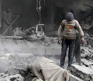 Strike on Syria's Ghouta kills 15 children sheltering in school