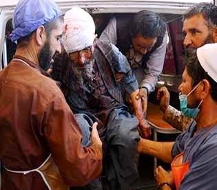 Roadside bomb hits Afghan bus
