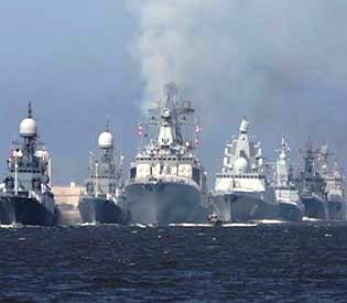 Russia deploys biggest EVER warship force to stop the US attack on Syria