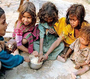 Child hunger in India